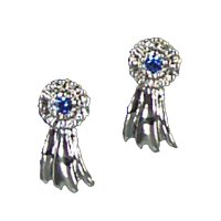BLUE RIBBON EARRINGS - $13.95