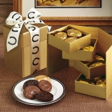 Dark Horse Chocolates Gold Four Tier Gift Box