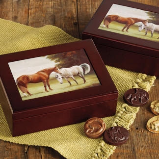 WOODEN KEEPSAKE BOX - $90.00