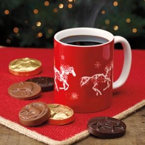 Dark Horse Chocolates Snowflake Horse Mug