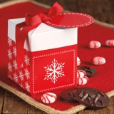 RED SNOWFLAKE BOX - $12.95