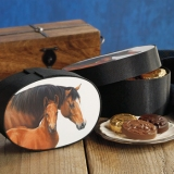 MARE & FOAL FABRIC BOX - $31.50